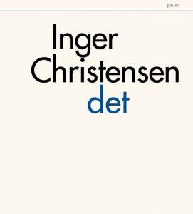 """Bokomslag for Inger Christensens """"Det"""". foto."""
