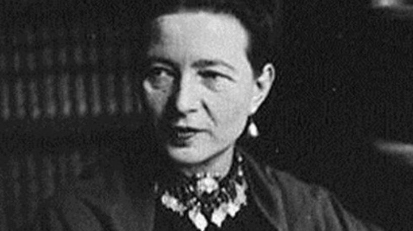 Simone de Beauvoir.foto