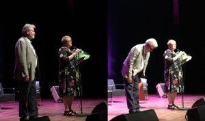 Kyrre Haugen Bakke og Trine Skei Grande. foto