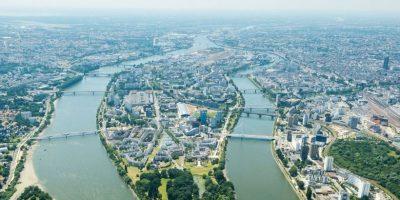 Nantes sett fra luften.foto