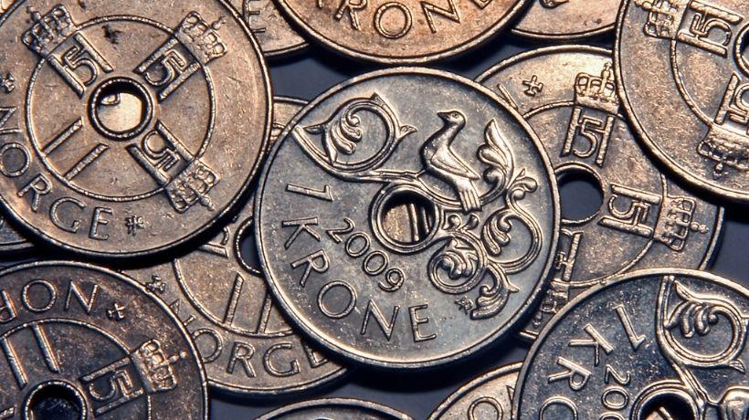 Norske 1-kroner.foto