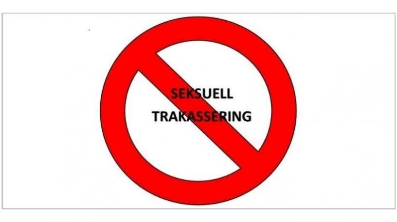 """Stoppskilt med teksten """"Seksuell trakassering"""".illustrasjon"""