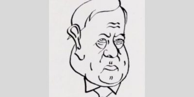 Karikatur av Magnus Grønvold