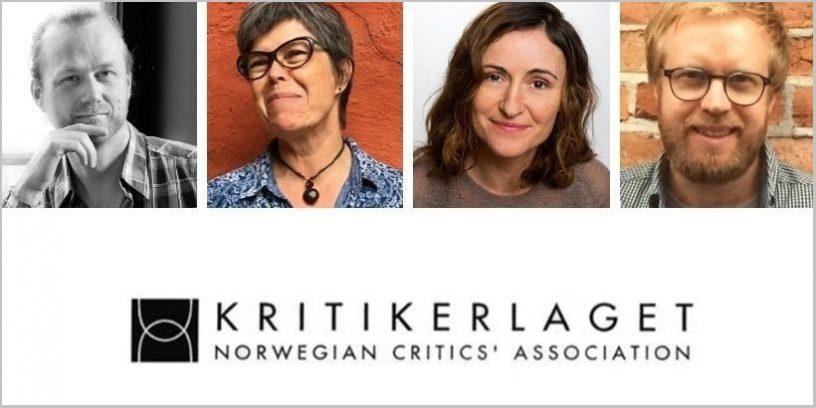 foto av Gunvald Axner Ims, Ika Kaminka, Margunn Vikingstad, Pål Aasen og Kritikerlagets logo