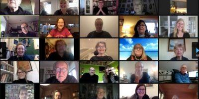 Årsmøtedeltakere på Zoom.skjermbilde