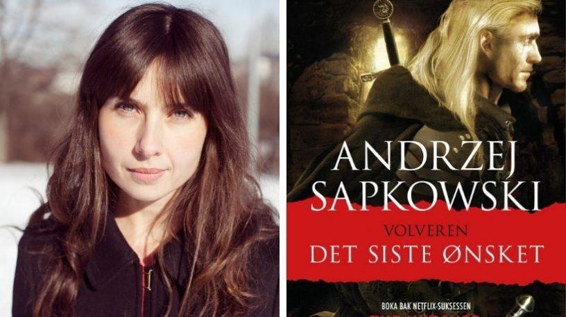 """Agnes Banach og omslagsbilde """"Volveren"""".to foto"""