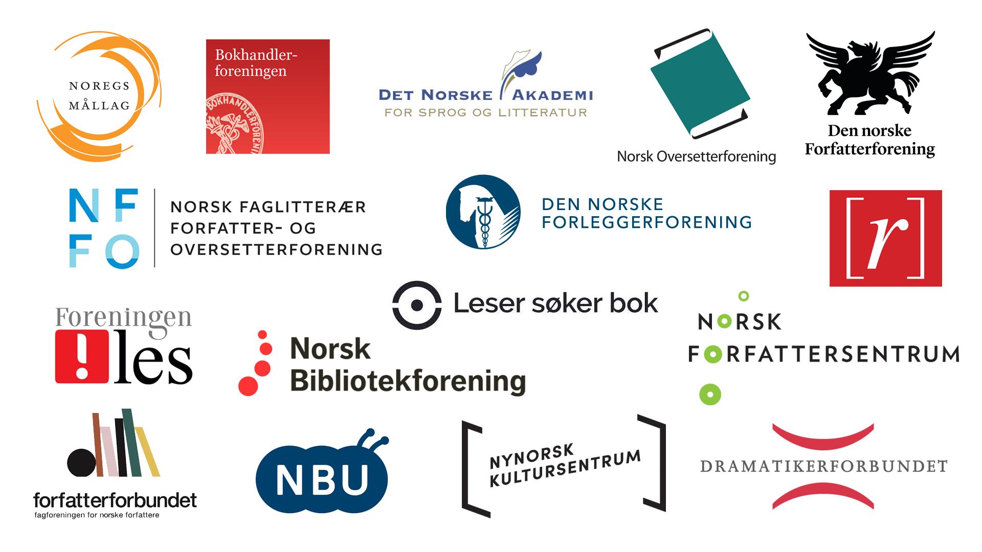 logoene til foreningene som er tilsluttet oppropet