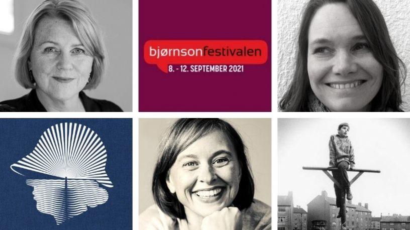 Brit Bildøen, Hilde Stubhaug og Janne Drangsholt, festivallogo og bokomslag