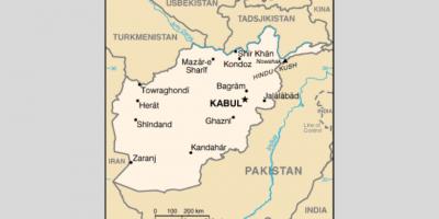 kart over Afghanistan
